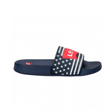CHANCLAS LEVIS JR TRUCKER LOW MARINO [28-35]